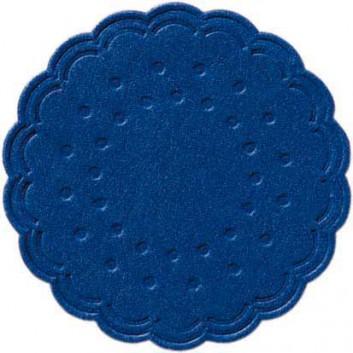 Duni Tassendeckchen; 7 cm; uni; blau; 165727; 8-lagig; im Spenderkarton