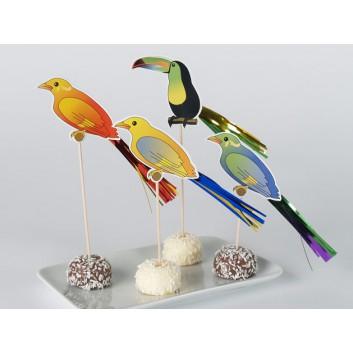 Kögler Partypicker, Holz; Vogel; bunt; 180 mm; Holz; in Klarsichtbox