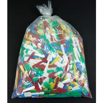Kunststoff-Eislöffel; 7,8 cm; bunt sortiert; Plastik; in Beutel verpackt