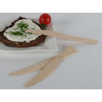 Holz-Messer; 16,5 cm; natur; Holz - Birke; in Folie verpackt