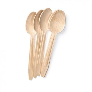 Holz-Löffel, coated; 16,0 cm; natur; Holz; in Folie verpackt; Katalog-Best-Nr.: 35572160