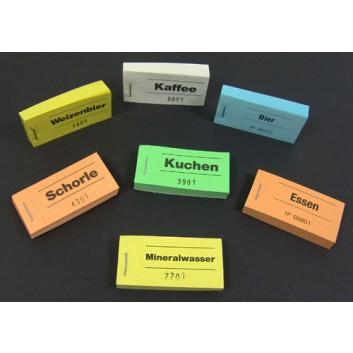 Block-Gutschein; diverse Texte, z.B.