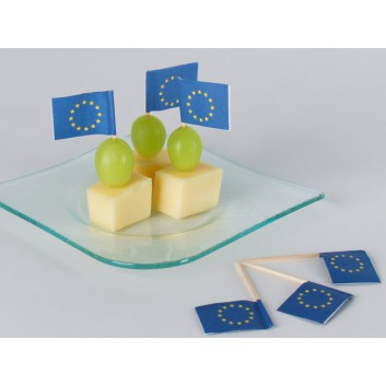 Kögler Partypicker, Holz; Europa; blau-gelb; 70 mm; Holz; in Klarsichtbox