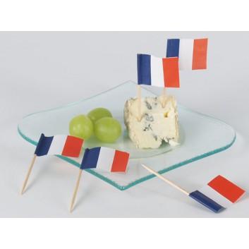 Kögler Partypicker, Holz; Frankreich; blau-weiß-rot: senkrecht; 70 mm; Holz; in Klarsichtbox