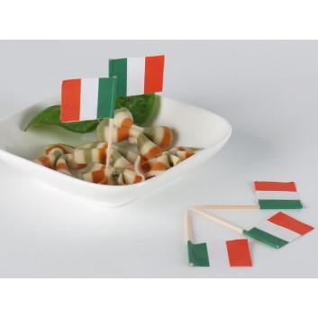 Kögler Partypicker, Holz; Italien; grün-weiß-rot: senkrecht; 70 mm; Holz; in Klarsichtbox