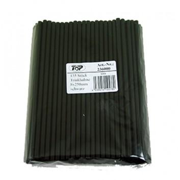 Jumbohalme, schwarz 135er-Pack; Standard, uni; schwarz; 250 mm; 8 mm; Festhalme; lose