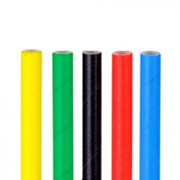 Kögler Papier-Trinkhalme; uni; vollfarbig, sortiert; 197 mm; 6 mm; Papier, starr; lose, ungehüllt, lebensmittelecht; Beutel