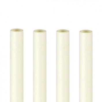 Kögler Papier-Jumbohalme; uni; weiß; 250 mm; 8 mm; Papier, starr; lose, ungehüllt, lebensmittelecht; Beutel; wasserfest (zeitlich begrenzt)