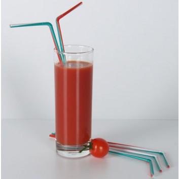 Kögler Trinkhalme - Länderfarben -; Italien; grün-weiß-rot; 240 mm; 5 mm; Flexhalme; lose; in Klarsichtbox