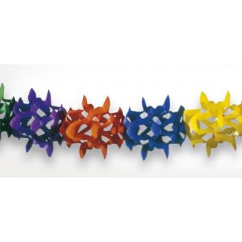 Kögler Girlande; Standard; bunt; Länge: 4 m, Maß: 11,5 x 11,5 cm; schwer entflammbar