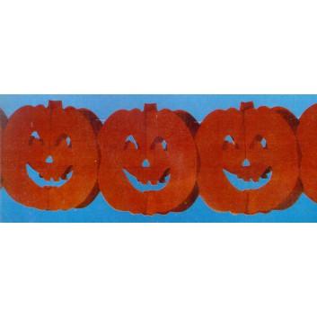 Kögler Girlande; Kürbis; orange-rot; 3 Meter  lang; schwer entflammbar