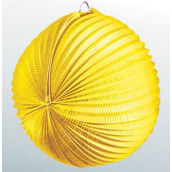 Kögler Lampion; Standard, uni; gelb; Ø ca. 34 cm; schwer entflammbar