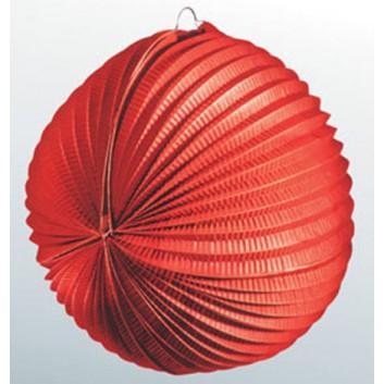 Kögler Lampion; Standard, uni; rot; Ø ca. 34 cm; schwer entflammbar