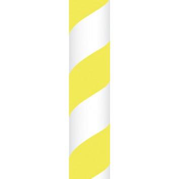 Ursus Papierstrohhalme M; Streifen; gelb; 200 mm; 80 mm; Papier; lebensmittelecht, wasserfest; in Blisterverpackung