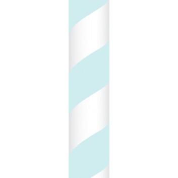 Ursus Papierstrohhalme M; Streifen; hellblau; 200 mm; 80 mm; Papier; lebensmittelecht, wasserfest; in Blisterverpackung