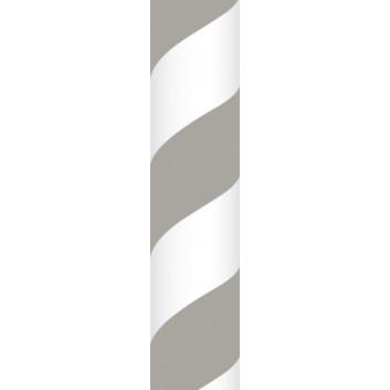 Ursus Papierstrohhalme M; Streifen; grau; 200 mm; 80 mm; Papier; lebensmittelecht, wasserfest; in Blisterverpackung