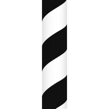 Ursus Papierstrohhalme M; Streifen; schwarz; 200 mm; 80 mm; Papier; lebensmittelecht, wasserfest; in Blisterverpackung