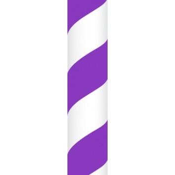 Ursus Papierstrohhalme M; Streifen; lila; 200 mm; 80 mm; Papier; lebensmittelecht, wasserfest; in Blisterverpackung