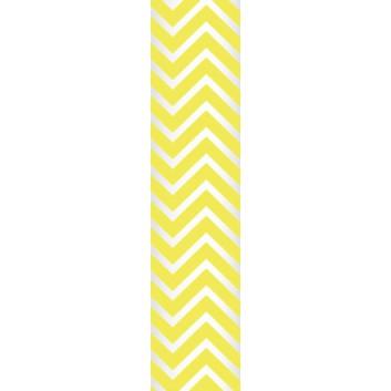 Ursus Papierstrohhalme M; Chevron; gelb; 200 mm; 80 mm; Papier; lebensmittelecht, wasserfest; in Blisterverpackung