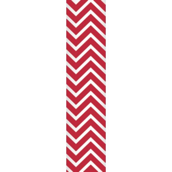 Ursus Papierstrohhalme M; Chevron; rot; 200 mm; 80 mm; Papier; lebensmittelecht, wasserfest; in Blisterverpackung
