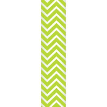 Ursus Papierstrohhalme M; Chevron; grün; 200 mm; 80 mm; Papier; lebensmittelecht, wasserfest; in Blisterverpackung