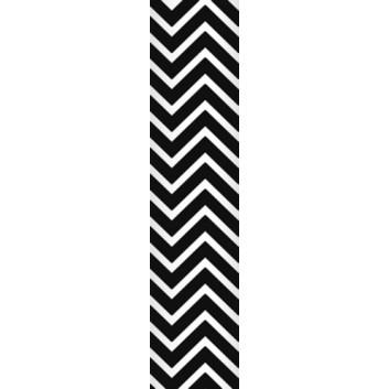 Ursus Papierstrohhalme M; Chevron; schwarz; 200 mm; 80 mm; Papier; lebensmittelecht, wasserfest; in Blisterverpackung