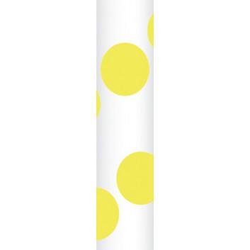 Ursus Papierstrohhalme M; Punkte; gelb; 200 mm; 80 mm; Papier; lebensmittelecht, wasserfest; in Blisterverpackung