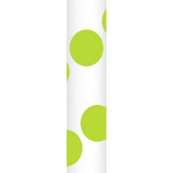 Ursus Papierstrohhalme M; Punkte; grün; 200 mm; 80 mm; Papier; lebensmittelecht, wasserfest; in Blisterverpackung