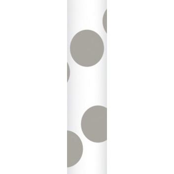Ursus Papierstrohhalme M; Punkte; grau; 200 mm; 80 mm; Papier; lebensmittelecht, wasserfest; in Blisterverpackung