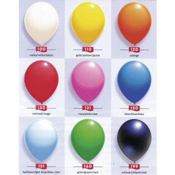 Globos Luftballons, groß uni; verschiedene Farben; Ø ca. 31 cm; ca. 100 cm; uni