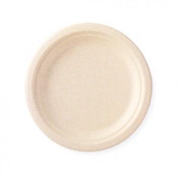Duni Teller, ecoecho; 22 cm; braun; Bagasse (Nebenprodukt aus Zuckerrohr); Rund; kompostierbar, mikrowellengeeignet
