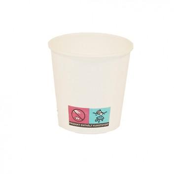 Becher CTG = Coffee-to-go; 100 ml / 4 oz; weiß, unbedruckt; Hartpapier, innen PE-beschichtet; Neue Version: ohne Eichstrich