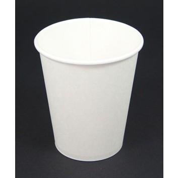Becher CTG = Coffee-to-go; 300 ml / 12 oz; weiß, unbedruckt; Hartpapier, innen PE-beschichtet; ohne Eichstrich; DU oben: 89,5 mm / Höhe: 110 mm