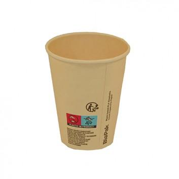 Duni Becher Sweet CTG = Coffee-to-go; 200 ml / 8 oz; hellbraun - ecoecho; Bagasse/PLA - ok-compost; - ohne Eichstrich -; 240 ml