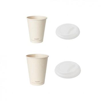 Duni Becher Sweet Coffee-to-go Ecoecho; verschiedene Formate; hellbraun - ecoecho; Bagasse/PLA - ok-compost; - ohne Eichstrich -