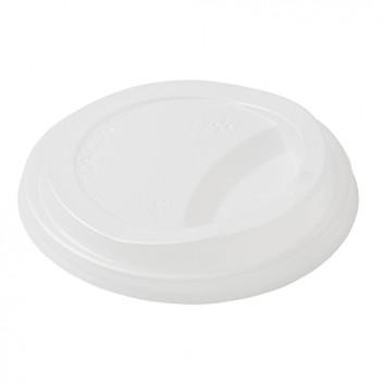 Duni Deckel für Sweet CTG = Coffee-to-go  Bec; für CTG-Becher #270283/270284; milchig-weiß; rund, mit Trinköffnung; CPLA; Du: 90 mm
