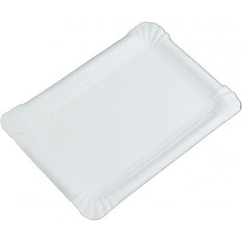 Hosti-Pfiffkuss Pappteller, eckig - weiß, unbeschichtet; verschiedene Formate; weiß; Hartpapier, unbeschichtet; Rechteckig