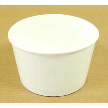 Becher / Eisbecher; 300 ml; weiß, unbedruckt; Hartpapier, innen PE-beschichtet; Rundbecher; DU oben: 101 mm / Höhe: 61 mm; 342 ml