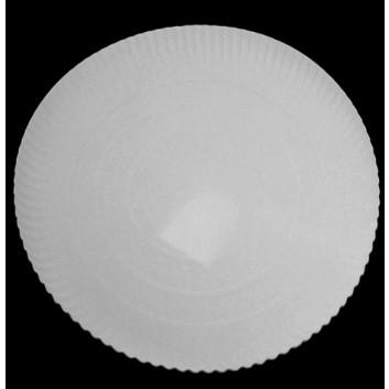 Hosti-Pfiffkuss Pappteller mit 3 cm Hochrand; DU: 34 cm; 3 cm tief; weiß; Hartpapier; recyclebar; Rund; trockene und nicht für fettende Lebensmi