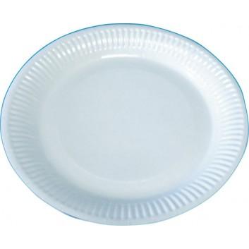Hosti-Pfiffkuss Pappteller, rund; 23 cm; weiß; Hartpapier, unbeschichtet; Rund; für trockene,nicht fettende Lebensmittel
