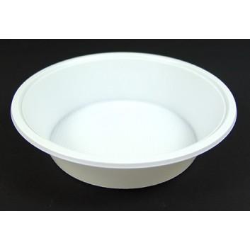 Plastik-Suppen-/Salatterrine 100er-Pack; 500 ml   -Abverkauf-; weiß; Plastik; Rund & tief; Suppe, Salat; DU: 18,5 / Hoch 4,2 cm