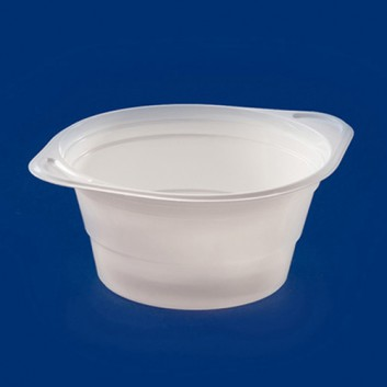 Plastik-Suppen-/Salatterrine; 750 ml; weiß; Polystyrol; Rund & tief; Suppe, Salat