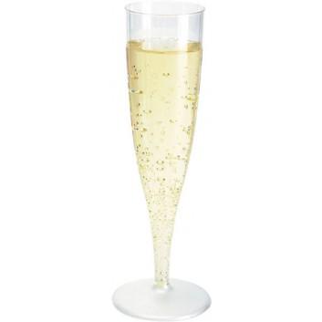 Duni Champagnerglas Spritzguß 10-Pack; 135 ml; transparent; PS = Polystyrol max. +100°C; bei 100 ml