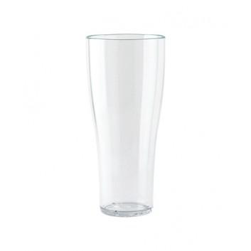 Weißbierbecher, Mehrweg; 500 ml; glasklar; SAN; Eichstrich bei 500 ml; ø 80 mm, 192 mm Höhe; bruchunempfindlich, stapelbar