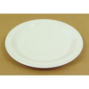 Melamin-Mehrwegteller; ø 19,5 cm; weiß; Melamin; Rund, ungeteilt; Desserts, Kleine Speisen