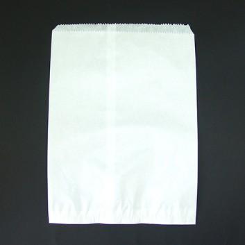 Papier-Flachbeutel; 300 x 420 mm; weiß; Zackenrand, lose (ungefädelt); Zellulose 40 g/qm; Breite x Höhe; Einnahtflachbeutel