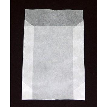Pergamin-Flachbeutel; 65 x 90 mm; milchig, durchscheinend; Klappe ca. 15 mm; Pergamyn, säurefrei ca. 50g/m²; Breite x Höhe; Zweinahtflachbeutel