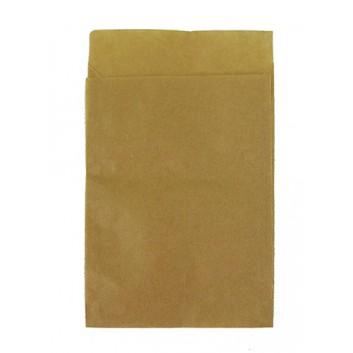 Papier-Flachbeutel; 95 x 130 mm; braun-glatt; Klappe ca. 20 mm; Kraftpapier, ca. 50 g/qm; Breite x Höhe; Zweinahtflachbeutel