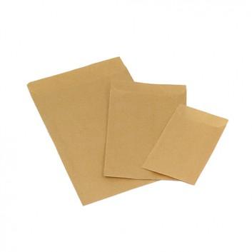 Papier-Flachbeutel - braun; verschiedene Formate; braun-glatt oder braun-enggerippt; Klappe ca. 20 mm; Kraftpapier, ca. 50 g/qm; Breite x Höhe