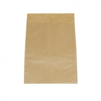 Papier-Flachbeutel; 115 x 160 mm; braun-glatt; Klappe ca. 20 mm; Kraftpapier glatt ca. 50 g/qm; Breite x Höhe; Zweinahtflachbeutel